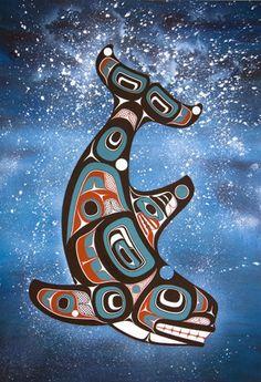 Passenger From North by Yukie Adams - Click Image to Close Native American Patterns, Native American Artwork, Native American Design, American Indian Art, Haida Kunst, Arte Haida, Haida Art, Native Symbols, Native Art