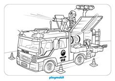 equipo de bomberos playmobil para colorear en playmyplanet