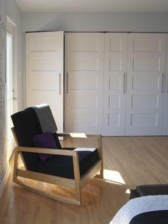 Closet Doors For Kids Bunk Room. I Like The Vertical Pulls. Houzz Tour  Living