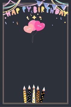 Happy Birthday Posters, Happy Birthday Template, Happy Birthday Frame, Birthday Posts, Birthday Frames, Happt Birthday, Funny Happy Birthday Images, Birthday Cards For Brother, Happy Birthday Balloons