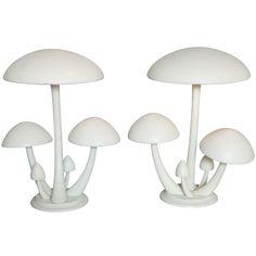 Pair Cast Aluminum Mushroom Table Lamps. USA, 1950s. http://1stdibs.com/furniture_item_detail.php?id=628816
