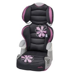 Evenflo Amp High Back Booster Car Seat, Carrissa - The Big Kid AMP Booster, with Comfort Touch padding around the head and body, is so comfortable your child will love it. The dual cup holders will keep drinks and snacks close. The one hand full body adjustment allows the seat to be positioned at 6 different heights for a correct fit. Appropriate...