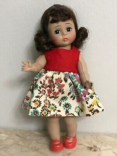 Sweet Vintage Madame Alexanderkin Wendy doll Bendable Knees | eBay Pink Dress, Blue Dresses, Vintage Madame Alexander Dolls, Bride Dolls, Southern Belle, Vintage Pink, Houndstooth, Her Hair, Pretty In Pink