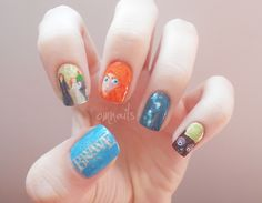 """I've never seen the movie """"Brave"""" but I had to share because this mani is amazing :: omnails"""