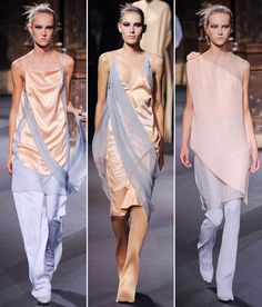 Meet Pantone's Color(s) of the Year 2016: Rose Quartz and Serenity - Vionnet Spring 2016  - from InStyle.com