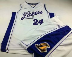 a94b2d6d3f5 Los Angeles Lakers · Lakers #24 Kobe Bryant White 2015-2016 Christmas Day A  Set Stitched NBA Jersey