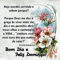 Blog Prosa Amiga: Bom Domingo repleto de felicidade, Feliz Domingo!