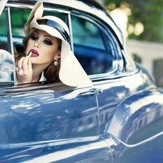 The blue car | #beauty #gettingready #lipstick
