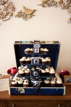 I wouldn't use this for cupcakes as an alternative to cake.  What I would do is use this as a dessert display besides the cake.