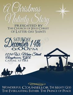 Christmas Nativity Presentation Poster Flyer Invitation Advertisement Digital…