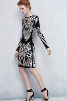 We absolutely love the jacquard and embellishments on this Herve Leger dress.