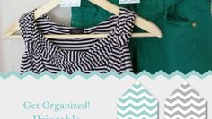 Organize Your Closet: Printable Hanger Tags (these are great for getting my children's school outfits ready for the week)