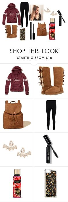 """""""Lazy"""" by babygirl-kenzie on Polyvore featuring Hollister Co., UGG, Boohoo, Kate Spade, Bobbi Brown Cosmetics, Victoria's Secret and Chanel"""