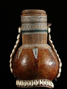 Africa | A decorated calabash used as a Milk Pot by the Borana or Gudji people of Ethiopia | ca. 1990
