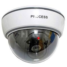 Top Quality Fake Dummy Dome CCTV Security Camera Flashing LED Outdoor New White in Cameras/ CCTV/ Sensors | eBay