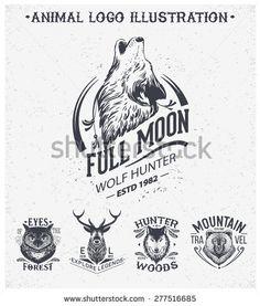 Vintage Logo Animal Design Ideas For 2019 Branding Logo Design, Brand Identity Design, Corporate Branding, Logo Animal, Logos Vintage, Vintage Graphic, Badges, Fashion Logo Design, Retro Vector