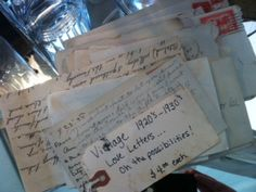 Vintage love letters from The Red Door Antiques #SafeHavenLetters
