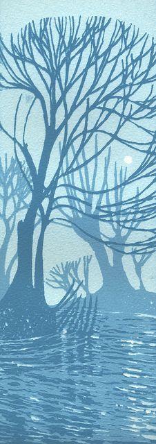 Grantchester Willows, Cambridge by Ian Scott Massie #tree #art