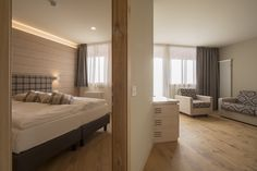 Hotel rooms with Lindura flooring. 300sqm with Lindura Rovere Naturale Oliato by Skema for the La Baita hotel Folgaria