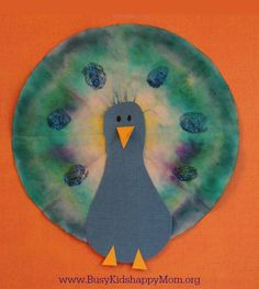 Tie Dye Coffee Filter Art for Kids - Page 3 of 3 - Busy Kids Happy Mom Zoo Crafts, Fun Easy Crafts, Camping Crafts, Animal Crafts, Camping Theme, Coffee Filter Art, Coffee Filter Crafts, Coffee Filters, Peacock Crafts