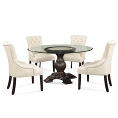 Best Of Round Oak and Glass Dining Table