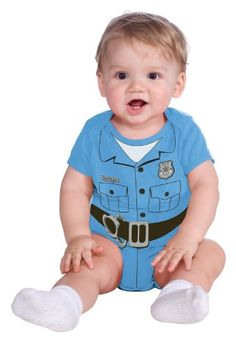 Police Officer Costume for Baby Infant