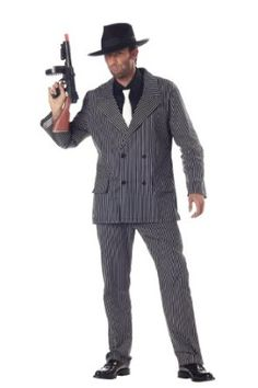 California Costumes Men's Gangster Costume.  $42.99            Costume includes: jacket, pants, dickey