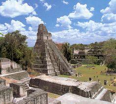 Tikal National Park, Guatemala. Amazing Ancient Maya ruins.