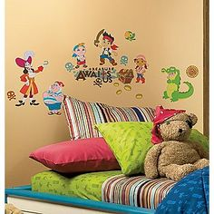 RoomMates  Jake and the Neverland Pirates Peel & Stick Wall Decals  $13.99