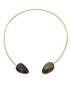 Janna Conner Gold Demos Labradorite Necklace