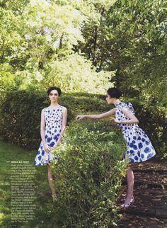 GARDEN OF DELIGHTS. Vogue, December 2006  ph. Steven Meisel  models: Sasha Pivovarova, Caroline Trentini, Gemma Ward, Karen Elson  stylist: Grace Coddington