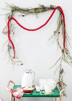 just adore coco kelley's cheerful hot chocolate station.