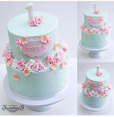 Cake & in white fr christening