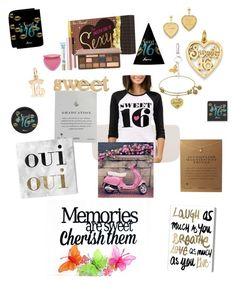 """""""Random sweet 16, brainstorming!"""" by ericjen8685 on Polyvore featuring Too Faced Cosmetics, Dogeared, Kevin Jewelers, Links of London, Oliver Gal Artist Co. and Jennifer Meyer Jewelry"""