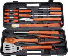 Braai Set [Wooden] colours:charcoal Material: Stainless Steel and Wood Tools (l) x 25 (w) x 7 (d) Branding methods:Silk Screening (Default Method) , Full Colour Print Wood Tools, Gadget Gifts, Charcoal Color, Branding, Stainless Steel, Colours, Silk, Eating Well, Kendall Charcoal