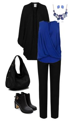 black ti blue by nespressita on Polyvore featuring moda, Oats Cashmere, M&S Collection and Bling Jewelry