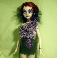 ZOMBIE DOLL hand painted Halloween ooak custom repaint remake goth horror barbie