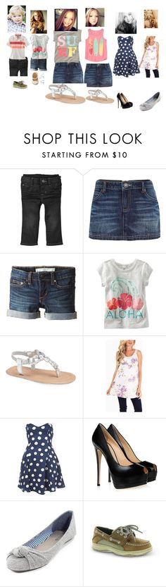 """Beach time"" by born2shine ❤ liked on Polyvore featuring Gap, River Island, Joe's Jeans, Carter's, Ralph Lauren, Gymboree, Giuseppe Zanotti and Sperry"