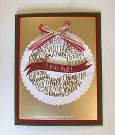 Welcome to the October Stamp of the Month Blog Hop by Close to My Heart Independent Consultants Christmas Tunes ...