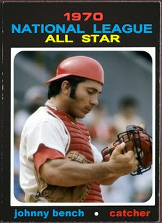 1971 Topps Johnny Bench All-Star, Cincinnati Reds, Baseball Cards That Never Were