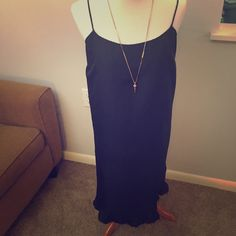 Juicy Couture Silk Slip Dress Beautiful silk slip dress by Juicy Couture. Ruffles on the bottom hem and the straps are adjustable.  Amy questions? Feel free to ask. Juicy Couture Dresses Mini