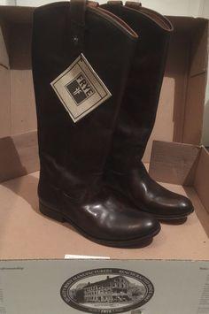 Women s Frye Melissa Button Boots Distressed Dark Brown  325 Sz 9  cfa30caec33