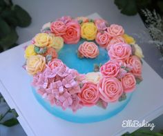 Cake Decorating Frosting, Buttercream Flower Cake, Cakes, Desserts, Food, Tailgate Desserts, Deserts, Cake Makers, Kuchen