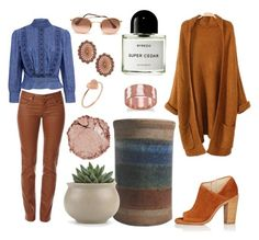 """""""Southwest Cedar Chambray"""" by sandraley5 on Polyvore featuring Byredo, Best Mountain, Citizens of Humanity, rag & bone, Southwest Moon, Ray-Ban, Chantecaille, BillyTheTree and First People First"""