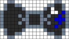Luna Hair Bow Perler Bead Pattern / Bead Sprite