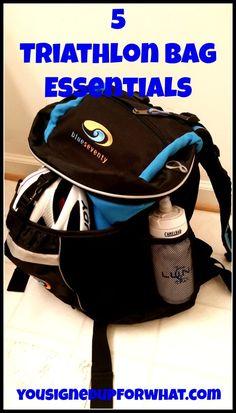 5 Triathlon Bag Essentials - gear you need for running, cycling, swimming as a triathlete!