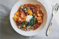 MIDDLE-EASTERN SPICED SQUASH + BEAN STEW // Sprouted Kitchen
