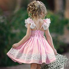 Princess Flower Girl Dresses, Girls Dresses Online, Girls Christmas Dresses, Dress Out, Types Of Dresses, Costume Dress, Pink Dress, Ball Gowns, Kids Outfits