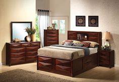 Coaster 202711Q 5 Queen Bed Nightstand Dresser Mirror Chest 5 PC Set New | $1649.00