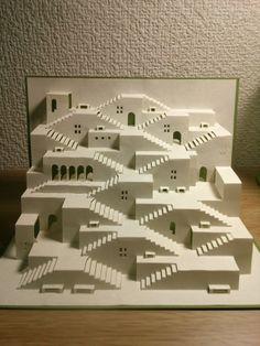 ポップアップオブジェⅣ                                                                                                                                                                                 もっと見る Origami Architecture, Minecraft Architecture, Minecraft Buildings, Futuristic Architecture, Kirigami, Minecraft Plans, Minecraft Blueprints, Minecraft House Designs, Minecraft Creations